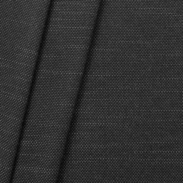 Polster-Möbelstoff Leinen-Baumwolle Optik Schwarz