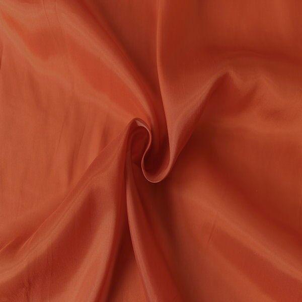Stretch Futter Taft Farbe Rot-Orange