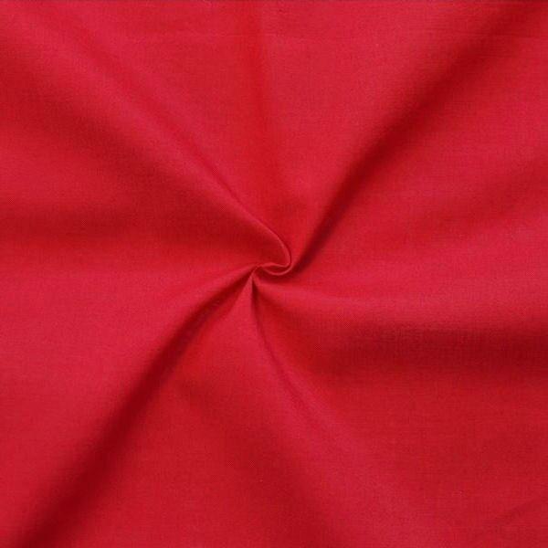100% Baumwolle Musselin Farbe Rot