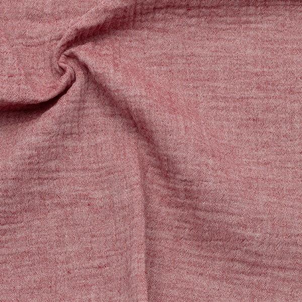 Baumwolle Musselin Double Gauze Melange Rot