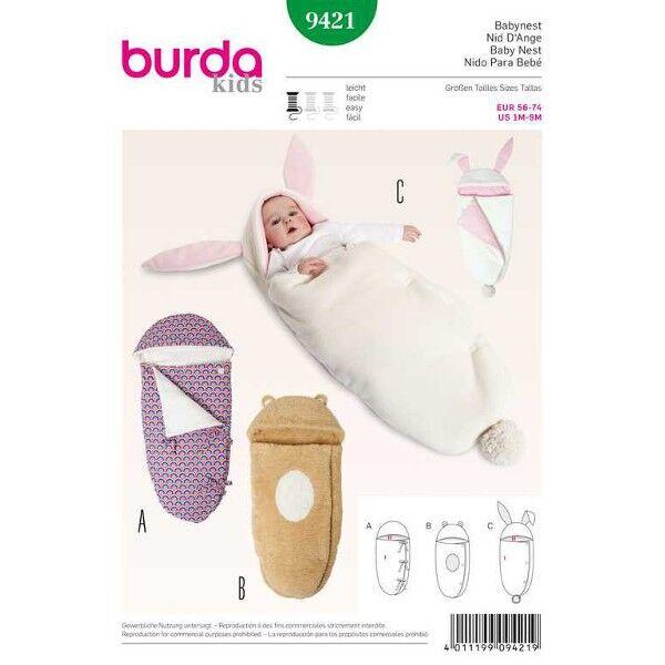 Burda 9421 Babynest in drei Varianten