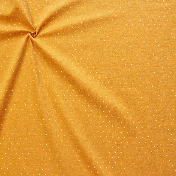 Baumwoll Stretch Jersey Mini Dots Gelb