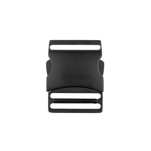 Metall-Steckschnalle 40mm Farbe Schwarz