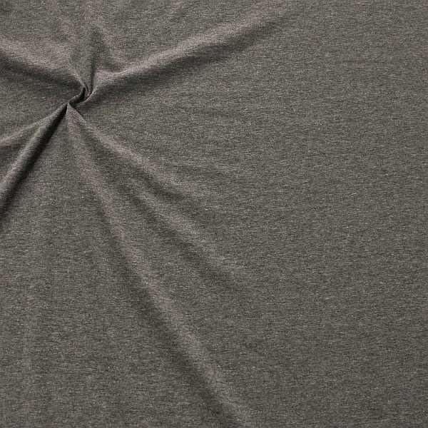 Baumwoll Stretch Jersey Fashion Basic Dunkel-Grau meliert