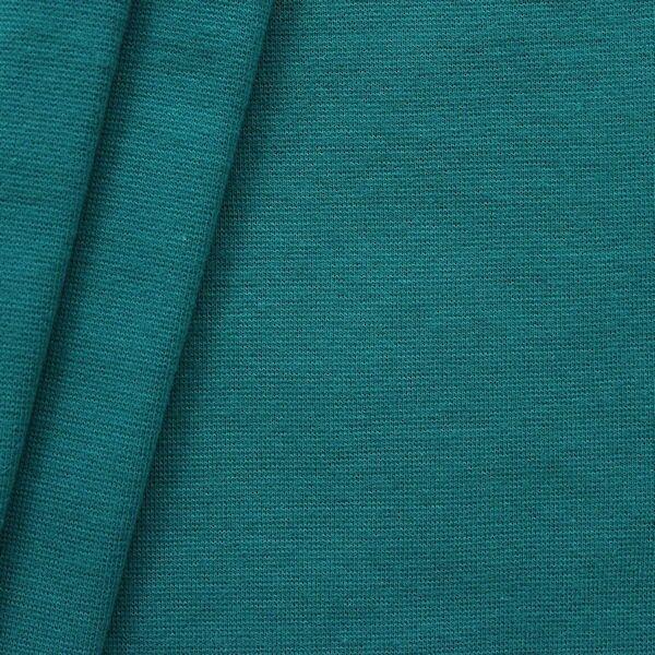 Petrol Farbe baumwoll bündchenstoff glatt farbe petrol uni baumwollstoffe