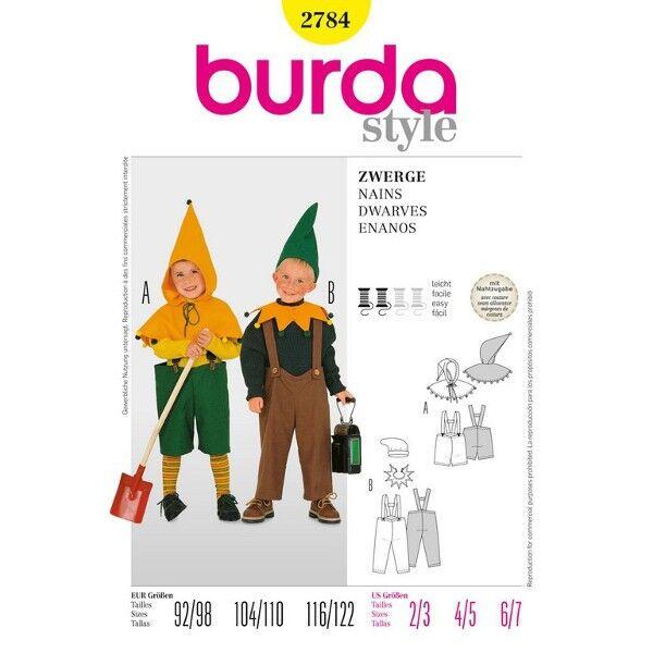 Burda Schnittmuster für Zwerge-Kostüme 2784