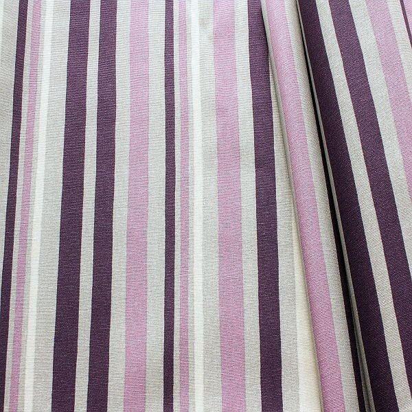Baumwollstoff beschichtet Streifen Mix Grau-Violett
