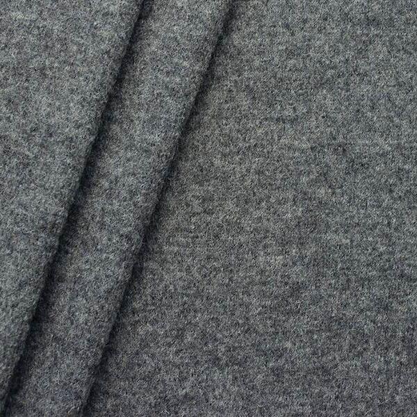 Wolle Walkloden Mittel-Grau