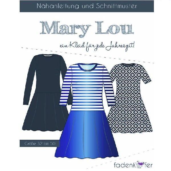 "Fadenkäfer Schnitt ""Mary Lou"" Damen Kleid Größe 32 - 50"