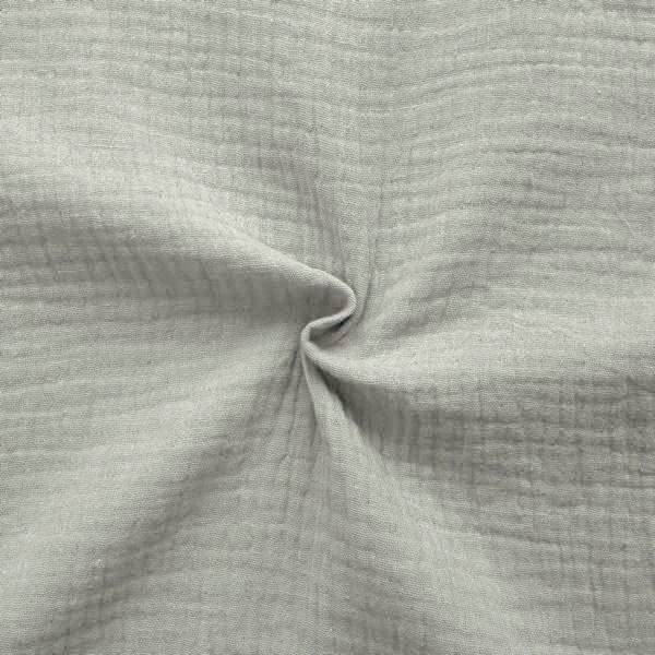 100% Baumwolle Musselin Double Gauze Farbe Grau-Beige
