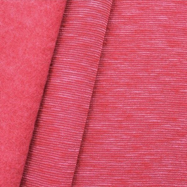 "Sweatshirt Baumwollstoff ""Two Tone 2"" Farbe Pink"