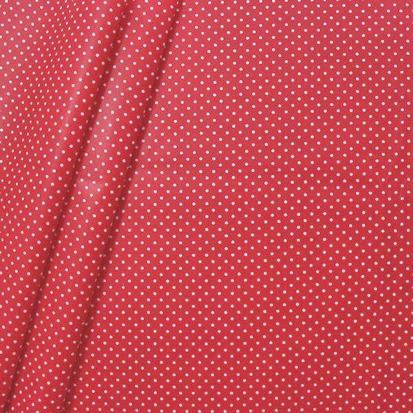 """Baumwollstoff beschichtet """"Punkte klein"""" Farbe Rot"""