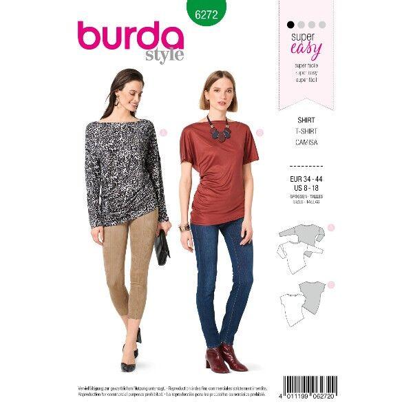 Shirt – asymmetrisch, Gr. 34 - 44, Schnittmuster Burda 6272