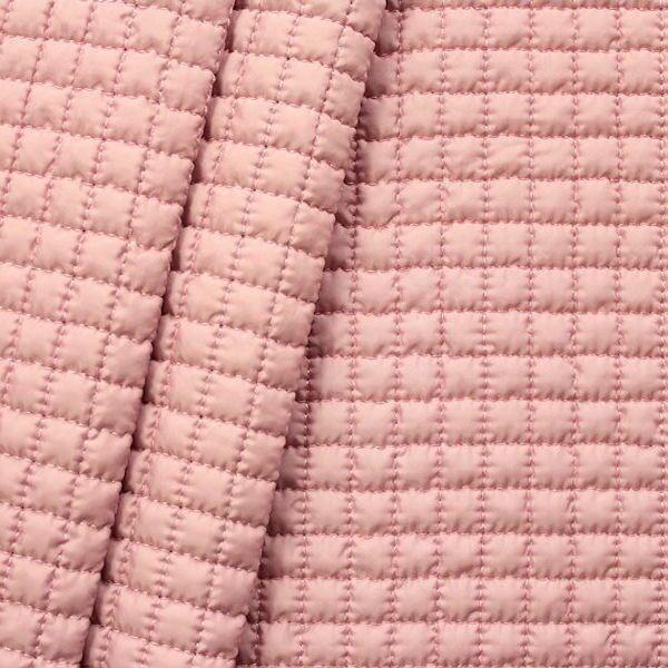 """Steppstoff wattiert """"Quader klein"""" Farbe Rosé"""