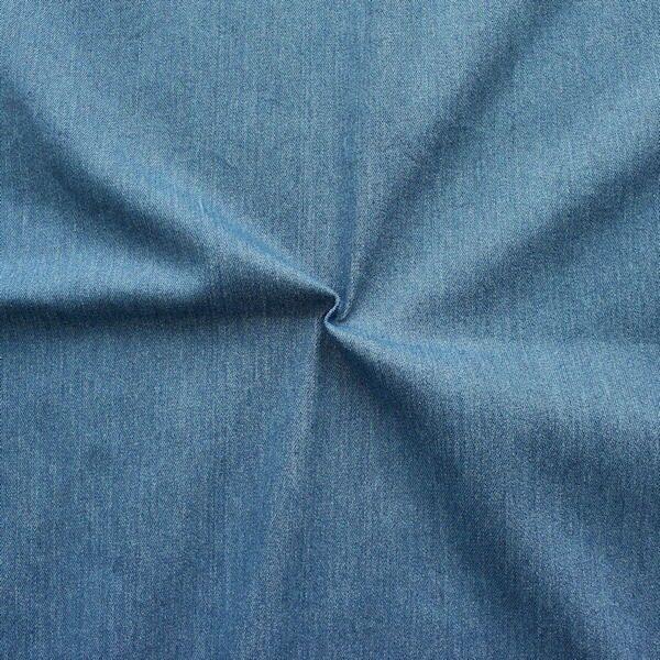 Hellblauer, gepunkteter Jeansstoff mit Teddyplüsch-Innenseite