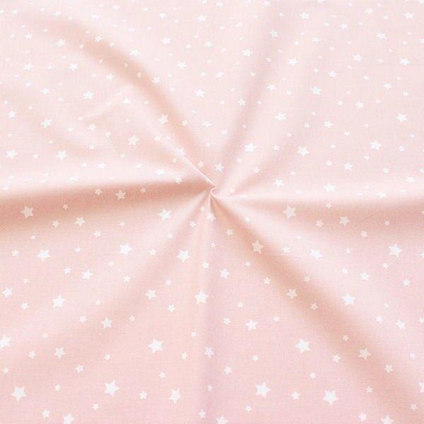 Baumwollstoff Sterne Mix Alt-Rosa