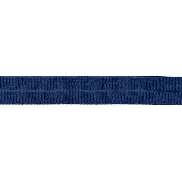 Elastisches Einfassband gerippt Navy-Blau