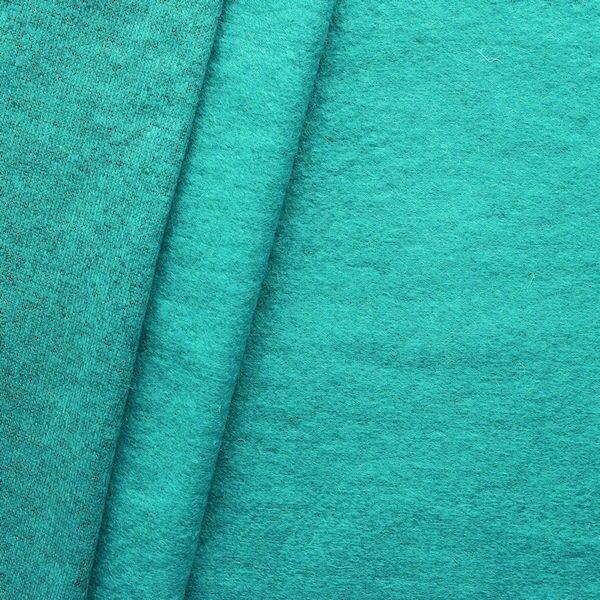 Strick Jersey Wollstoff Farbe Petrol melange
