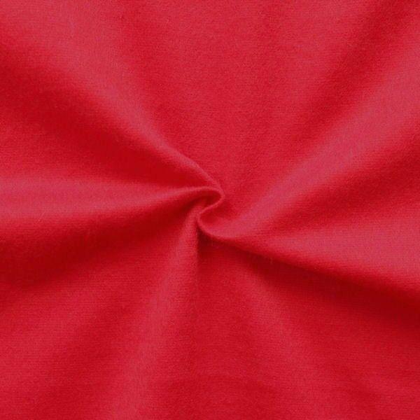 100% Baumwolle Molton universal Breite 150cm Farbe Rot