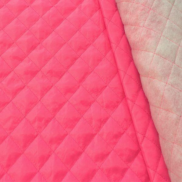 Steppstoff Futterstoff wattiert Rauten Klassik Pink