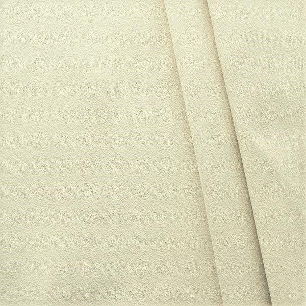 Microfaser Polsterstoff Möbelstoff Creme-Weiss