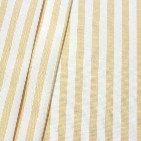 Indoor Outdoorstoff Streifen schmal Beige-Weiss