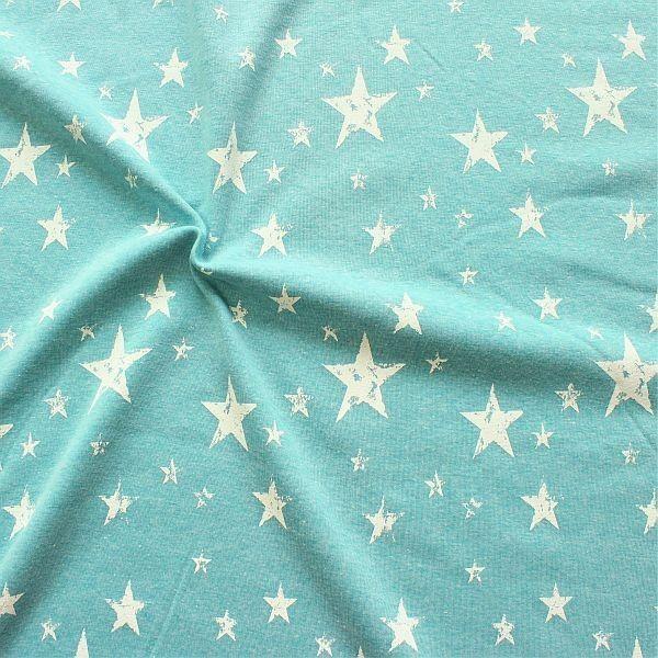 Alpenfleece Sweatshirt Vintage Stars Türkis