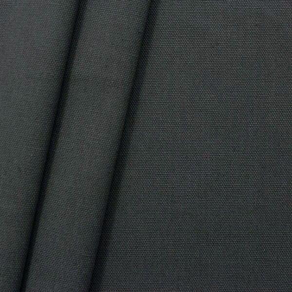 100% Baumwolle Canvas Anthrazit