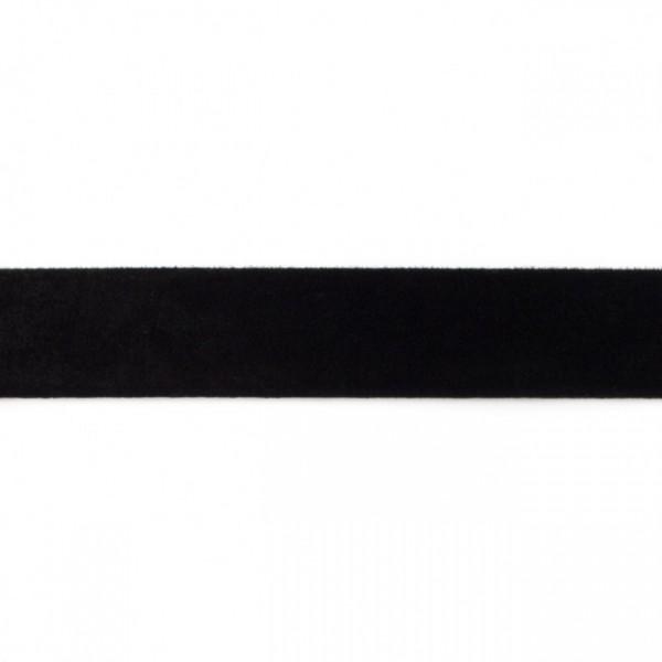 Samtband Breite 25mm Farbe Schwarz