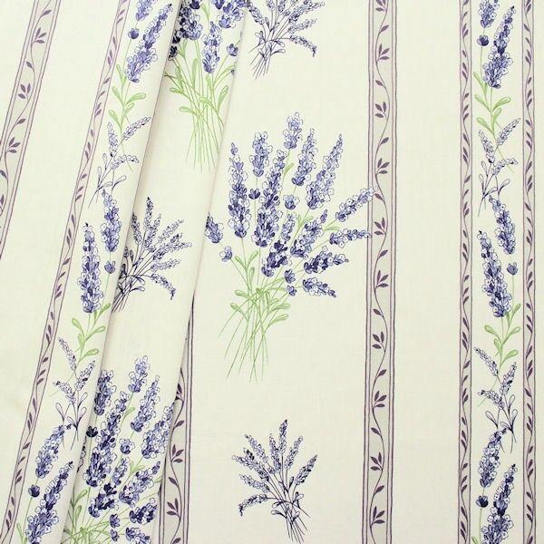 Baumwolle Lavendel Creme-Weiss