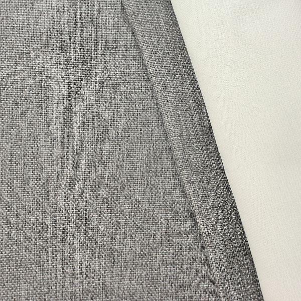 Verdunkelungs- Thermo Vorhangstoff Black Out Stein-Grau melange