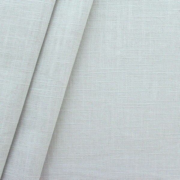 100% Leinen Stoff Artikel Girona Farbe Hell-Grau