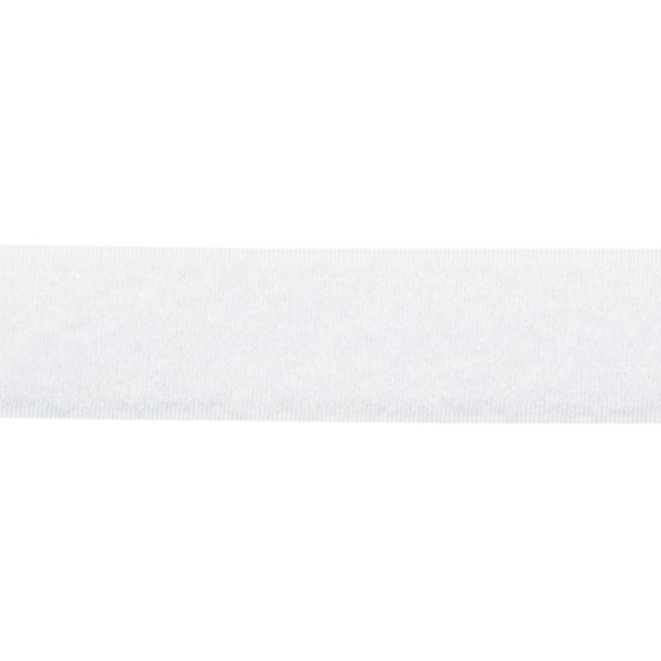 Klett Flauschband selbstklebend 25mm Weiss