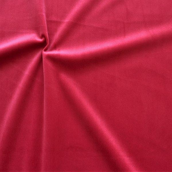 Microfaser Samt Stoff Velvet Touch Rubin-Rot