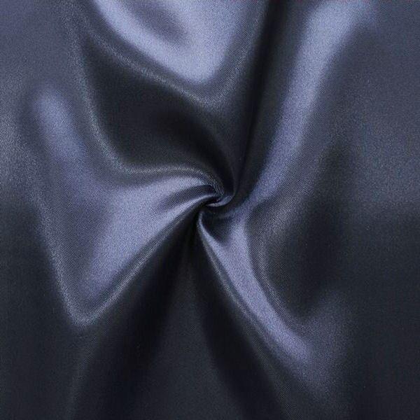 Satin Stoff Farbe Nacht-Blau