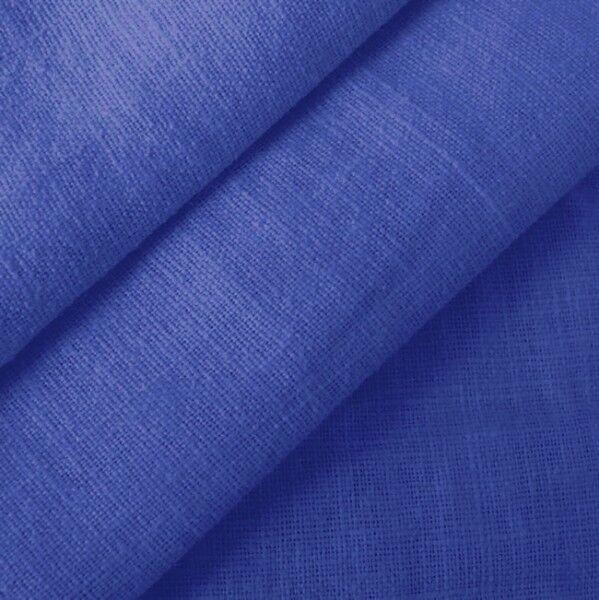100% Leinen Stoff Artikel Barcelona, Farbe Royal-Blau