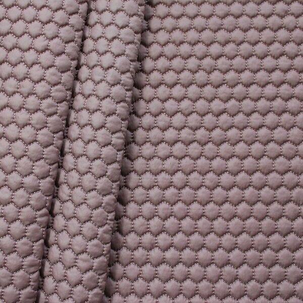 Steppstoff wattiert Waben klein Pastell-Violett