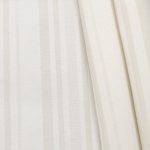 "Jacquard Dekostoff Doubleface ""Mixed Stripes"" Farbe Ecru"
