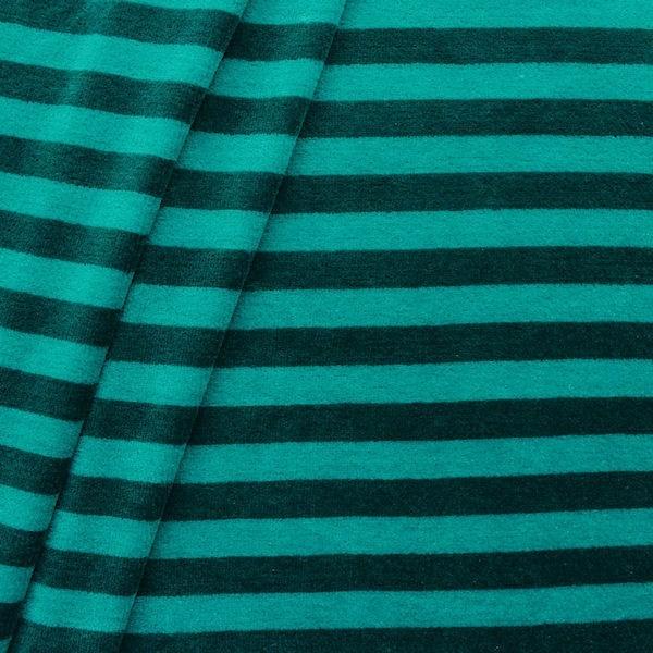 "Nicki Baumwollstoff ""Streifen"" Farbe Ozean-Blau"