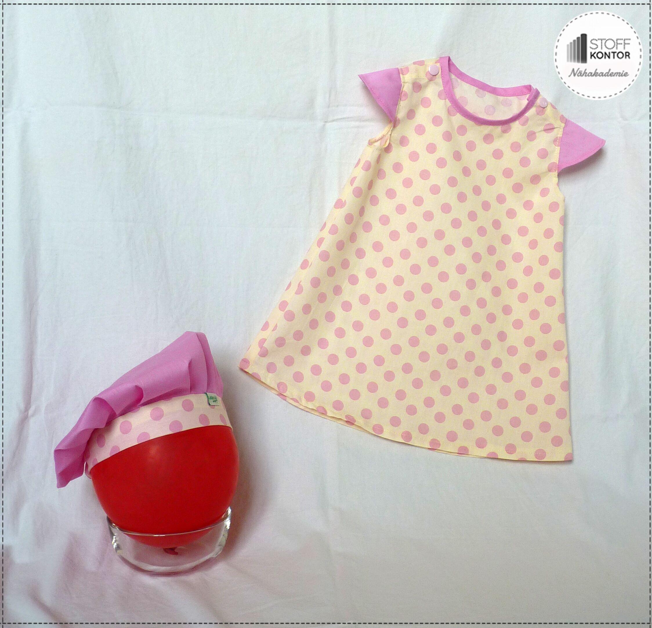 Kostenlose Nähanleitung - Kleidchen & Baskenmütze für Kinder