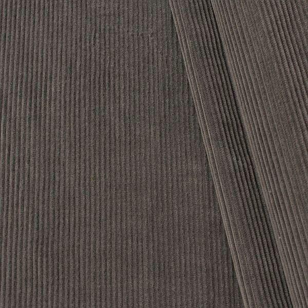 Manchester Cord Baumwollstoff Stahl-Grau