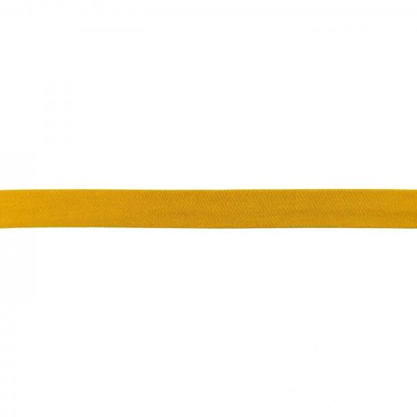 Baumwolljersey Schrägband Breite 20mm Senf-Gelb