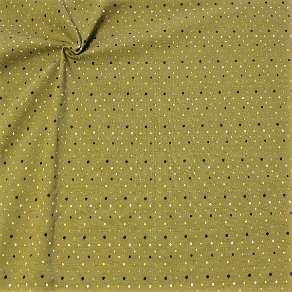 Baumwoll Stretch Jersey Konfetti Dots Grün