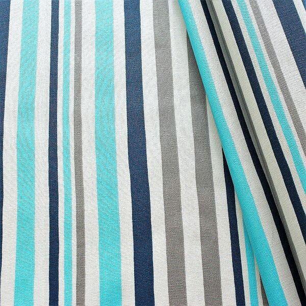Baumwollstoff beschichtet Streifen Mix Grau-Blau