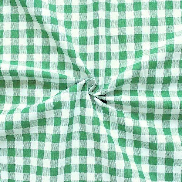 100% Baumwollstoff Züchen Vichy Karo groß Farbe Grün-Weiss