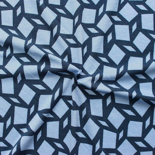 Viskose-Stretch-Jersey mit Mosaikmuster