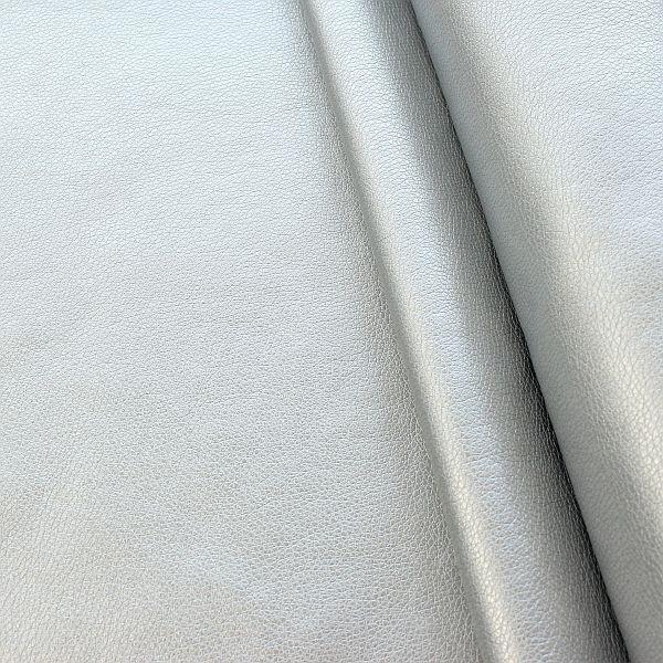 Lederimitat PU Kunstleder Soft Touch Metallic Silber