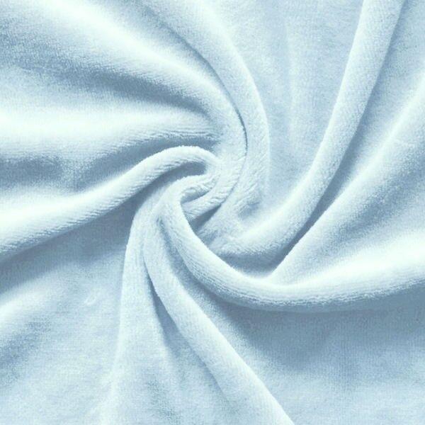 Nicki Baumwollstoff Farbe Baby Blau