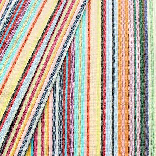 """Markisen-/ Outdoorstoff """"Streifen Mix"""" Multicolor"""