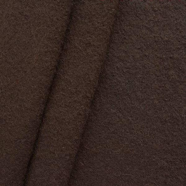 Wolle Walkloden Dunkel-Braun